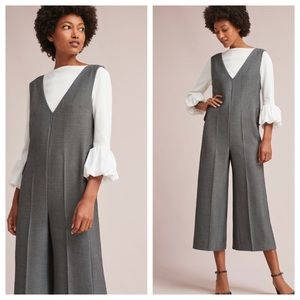 NWT ANTHROPOLOGIE OXFORD JUMPSUIT PINAFORE